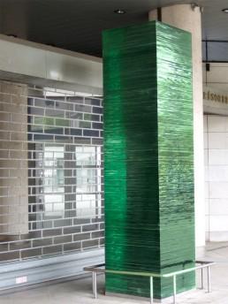 sculpture - colonne en verre - Nantes